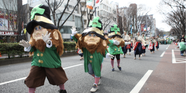 St Patrick's Day Parade in Tokyo